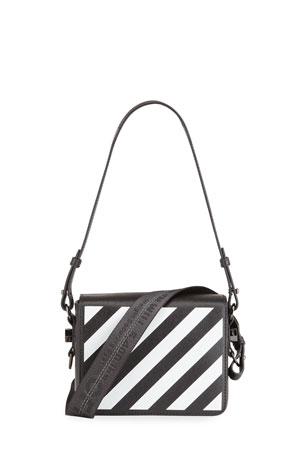 Off-White Diagonal Flap Shoulder Bag