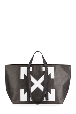Off-White Commercial Wrinkled Tote Bag