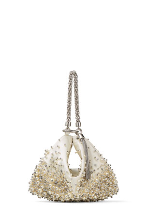 Jimmy Choo Callie Pearly Chain Cocktail Clutch Bag