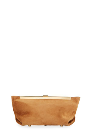 Khaite Aimee Envelope Pleat Clutch Bag