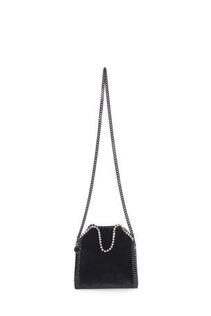 Stella McCartney Falabella Tiny Velvet Chain Tote Bag