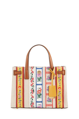 Tory Burch Walker Small Webbing Triple-Compartment Tote Bag