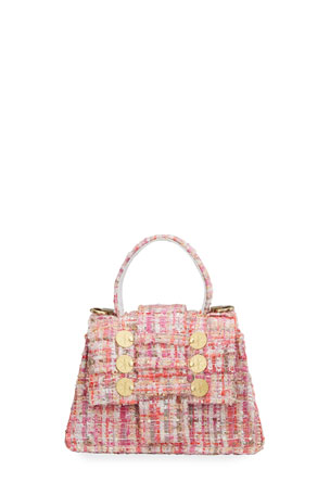 Kooreloo Petite Trapezoid Tweed Top-Handle Bag