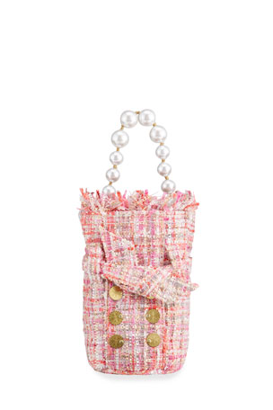 Kooreloo Charlotte Tweed Pouch Bag with Coins