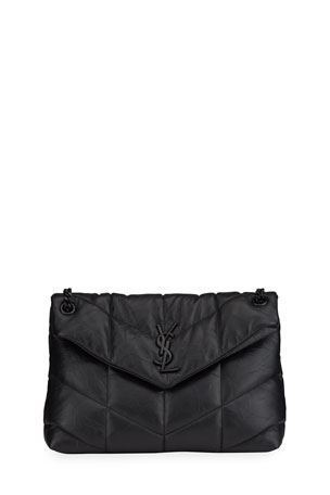 Saint Laurent Loulou Puffer Medium YSL Brushed Leather Shoulder Bag