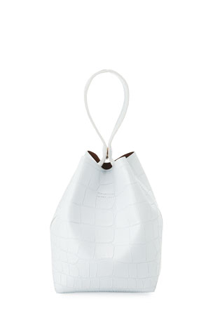 IMAGO-A Exclusive Two-Tone Croco Bucket Bag