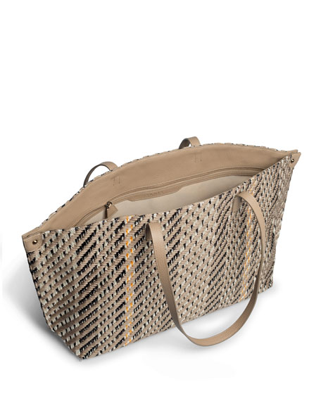 Image 2 of 5: AI Medium Soft Woven Shoulder Tote Bag
