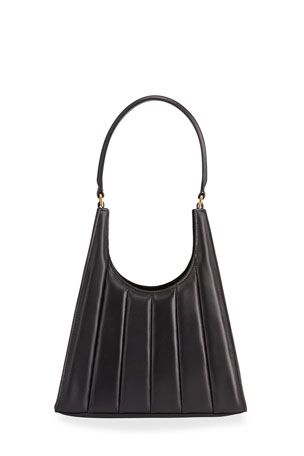 Staud Rey Striped Leather Hobo Bag