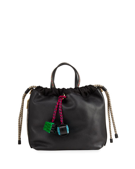 Image 1 of 4: Etro Mixed Media Drawstring Bucket Bag