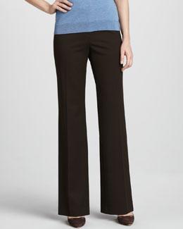Lafayette 148 New York Menswear-Style Pants, Espresso