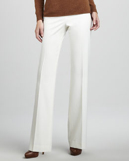 Lafayette 148 New York Menswear-Style Pants, Winter White