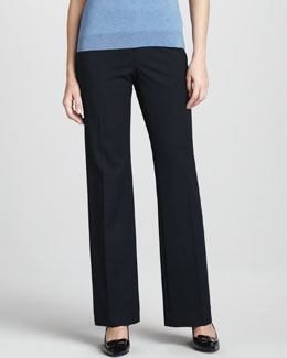 Lafayette 148 New York Menswear-Style Pants, Navy