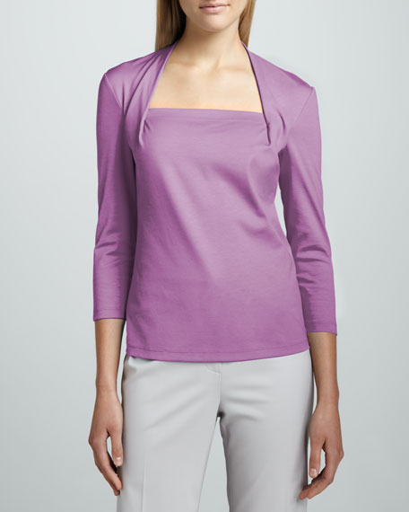 Giada Ribbed Cotton Top