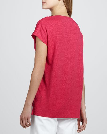 Linen Jersey Top, Petunia