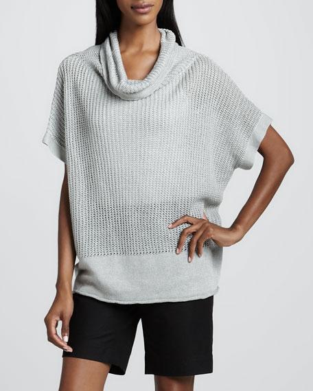 Waffle-Rib Loose Sweater