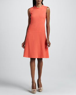 Lafayette 148 New York Dorritt A-Line Crepe Dress