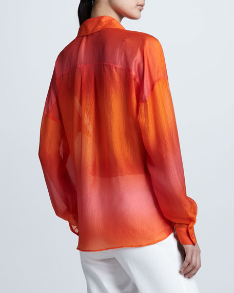 Lumi Ombre Silk Blouse