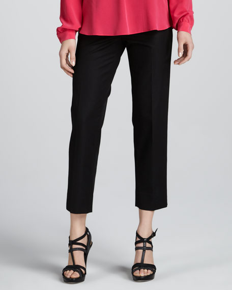 Cropped Bleecker Pants, Black