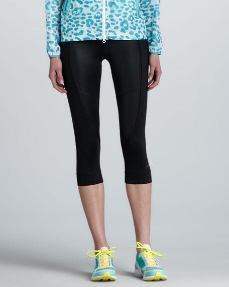 Cropped Jersey Running Leggings