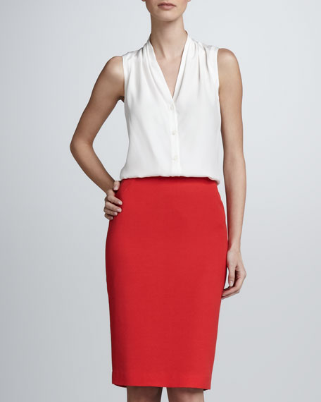 Slim Pencil Skirt, Rosehip