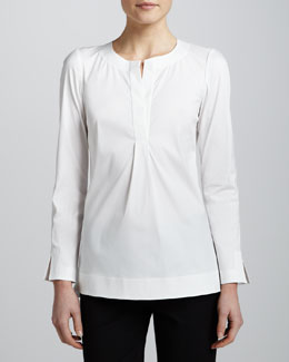 Lafayette 148 New York Kareena Italian Stretch Tunic
