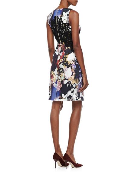 Floral & Lace Sheath Dress