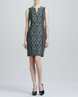 Rachel Roy Crepe Sleeveless Dress