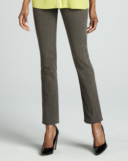Studio 148 by Lafayette 148 New York Reptilian-Print Stretch Jeans
