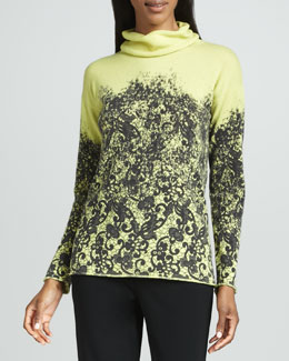 Lafayette 148 New York Printed Cashmere Sweater