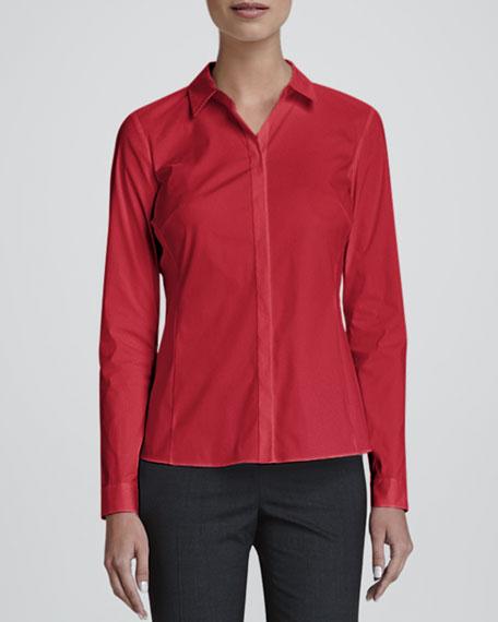 Olina Long-Sleeve Blouse, Spark