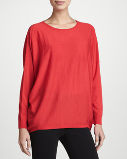 Lafayette 148 New York Dropped-Hem Sweater, Spark