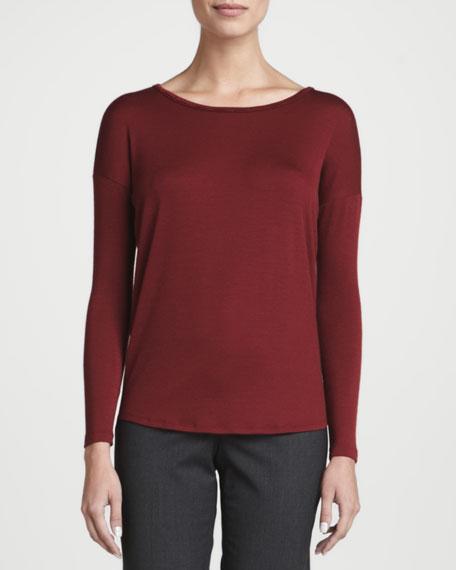 Light Wool Jersey Long-Sleeve Top