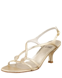 Stuart Weitzman Sling Back Evening Sandal