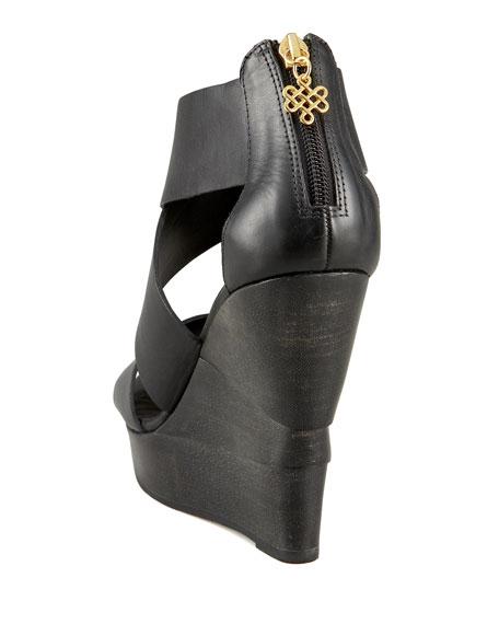 Diane von Furstenberg Opal Crisscross Wedge Sandal