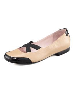 Taryn Rose Crisscross Elastic Ballerina Flat