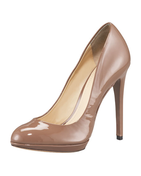 Patent-Leather Platform Pump