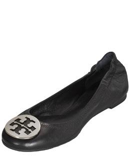 Tory Burch Reva Logo Ballerina Flat, Black