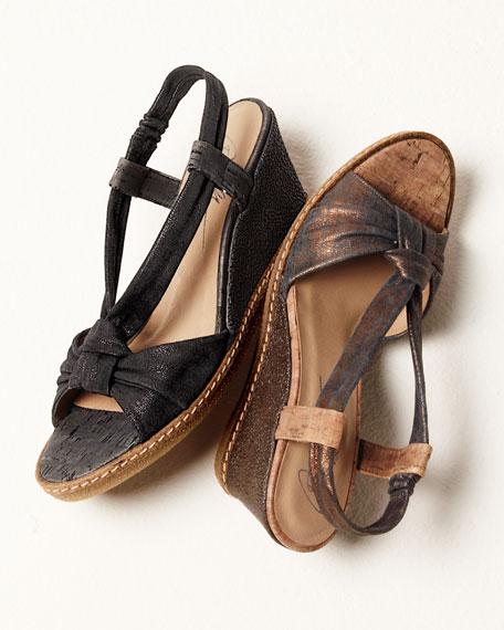 Shimmery Slingback Sandal