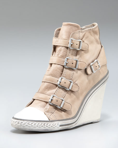 Ash Leather Wedge Sneaker