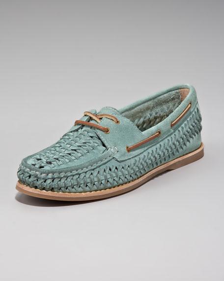 Quincy Woven Boat Shoe