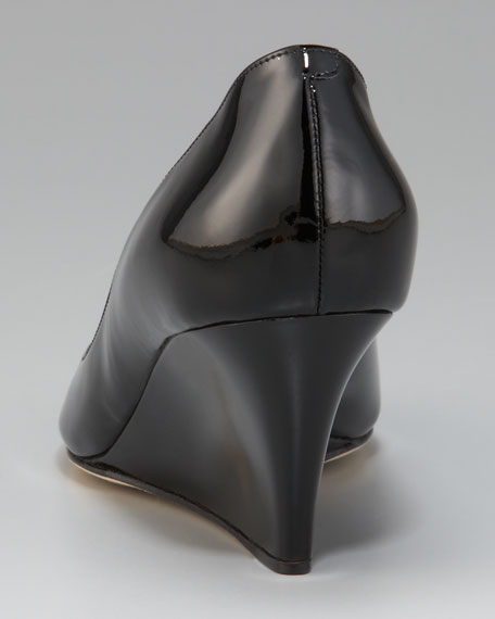 Bale Peep-Toe Patent Wedge Pump