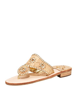 Jack Rogers Napa Valley Whipstitch Thong Sandal