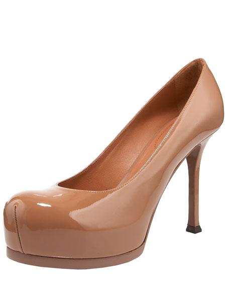 """Saint Laurent Tribtoo Patent Pump, 4"""" Heel"""