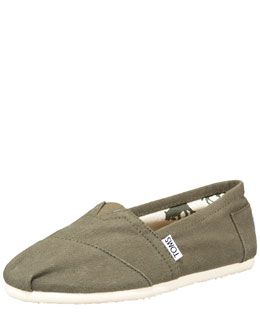 TOMS Classic Canvas Slip-On, Olive