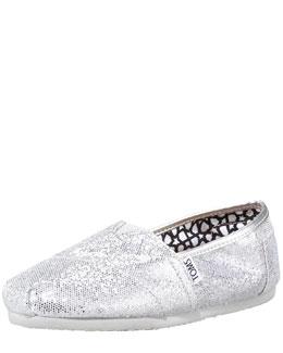 TOMS Glitter Slip-On, Silver