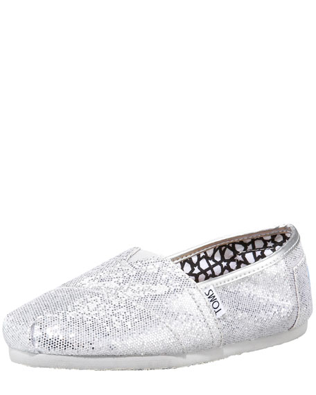 Glitter Slip-On, Silver