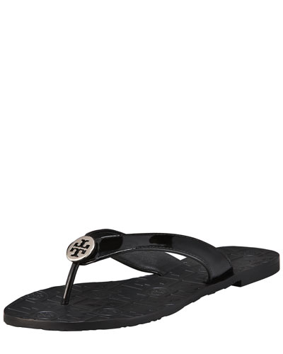 Tory Burch Thora Patent Leather Thong Sandal