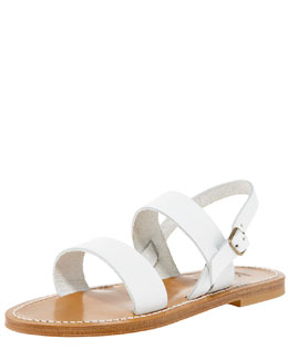 K. Jacques Double-Band Slingback Sandal