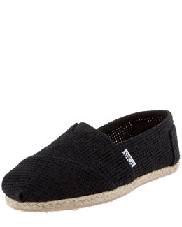 TOMS Freetown Perforated Slip-On, Black