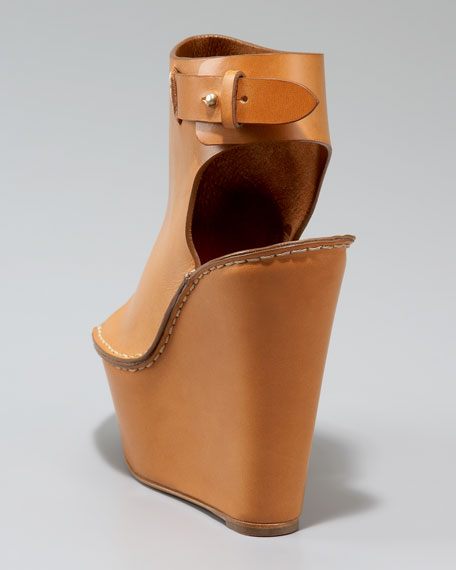 Ankle-Wrap Platform Wedge